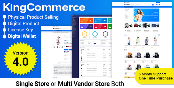 eCommerceKING - All in One eCommerce Business Management Script - 1